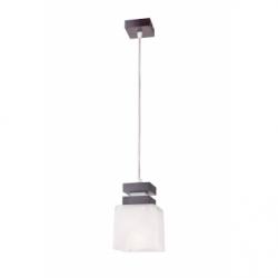 Lustra Kubus wenge 1x60W E27, sticla - Iluminat corpuri de iluminat