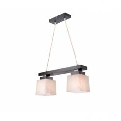 Lustra Kubus wenge 2x60W E27, sticla - Iluminat corpuri de iluminat