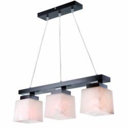 Lustra Kubus wenge 3x60W E27, sticla - Iluminat corpuri de iluminat