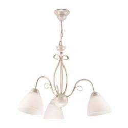 Lustra Adelle alb 3x60W E27, sticla - Iluminat corpuri de iluminat