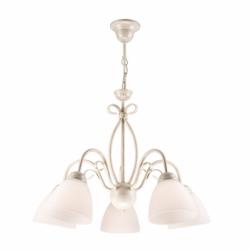Lustra Adelle alb 5x60W E27, sticla - Iluminat corpuri de iluminat
