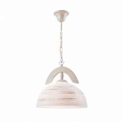 Lustra alb antic 1x60W E27, sticla - Iluminat corpuri de iluminat