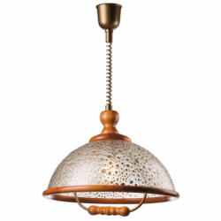 Lustra Plexa rustic 1x60W E27, sticla inaltime ajustabila - Iluminat corpuri de iluminat