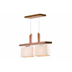 Lustra Pawel rustic 2x60W E27, textil - Iluminat corpuri de iluminat