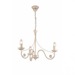 Lustra Donato alb 3x40W E14, metal - Iluminat corpuri de iluminat