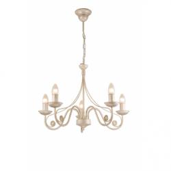 Lustra Donato alb 5x40W E14, metal - Iluminat corpuri de iluminat