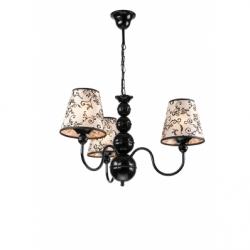 Lustra Bouli negru 3x60W E27, textil - Iluminat corpuri de iluminat