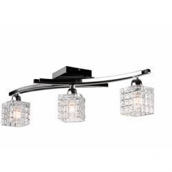 Lustra Alicja negru 3x60W E27, sticla - Iluminat corpuri de iluminat