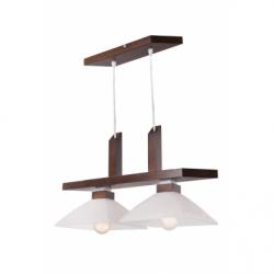 Lustra Pawel wenge 2x60W E27, textil - Iluminat corpuri de iluminat