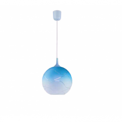 Lustra albastru 1x60W E27, sticla - Iluminat corpuri de iluminat