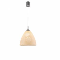 Lustra portocaliu flori 1x60W E27, sticla - Iluminat corpuri de iluminat