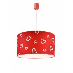 Lustra inimioare 1x60W E27, textil - Iluminat corpuri de iluminat