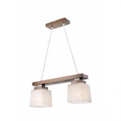 Lustra Kubus nuc 2x60W E27, sticla - Iluminat corpuri de iluminat