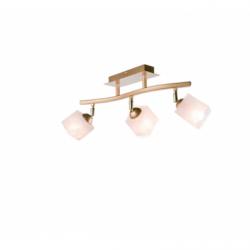 Lustra Klara auriu 3x40W E14, sticla - Iluminat corpuri de iluminat