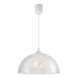 Lustra pictata manual fluture 1x60W E27, sticla - Iluminat corpuri de iluminat