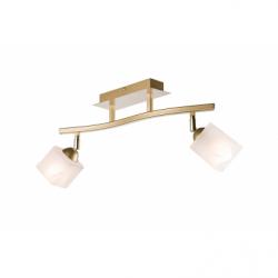 Lustra Klara auriu 2x40W E14, sticla - Iluminat corpuri de iluminat