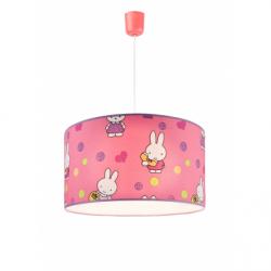 Lustra roz iepurasi 1x60W E27, textil - Iluminat corpuri de iluminat