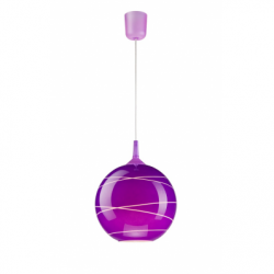 Lustra violet 1x60W E27, sticla - Iluminat corpuri de iluminat