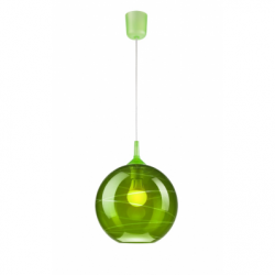 Lustra verde 1x60W E27, sticla - Iluminat corpuri de iluminat
