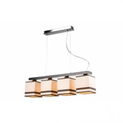 Lustra Daria wenge 4x60W E27, textil - Iluminat corpuri de iluminat