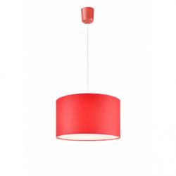 Lustra rosu 1x60W E27, textil - Iluminat corpuri de iluminat