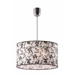 Lustra flori 1x60W E27, textil - Iluminat corpuri de iluminat