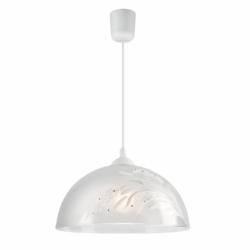 Lustra pictata manual lalele 1x60W E27, sticla - Iluminat corpuri de iluminat