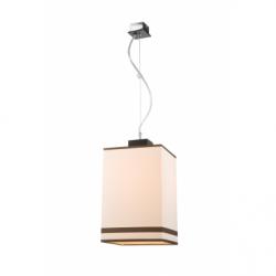 Lustra Daria wenge 1x60W E27, textil - Iluminat corpuri de iluminat