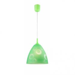 Lustra Lampy pojedyncze verde cercuri 1x60W E27, sticla - Iluminat corpuri de iluminat