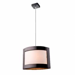 Lustra Halina wenge 1x60W E27, sticla - Iluminat corpuri de iluminat