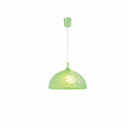 Lustra verde flori 1x60W E27, sticla - Iluminat corpuri de iluminat