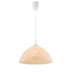 Lustra portocaliu cercuri 1x60W E27, sticla - Iluminat corpuri de iluminat