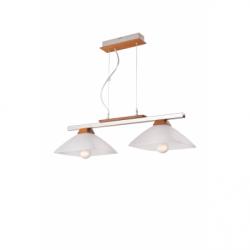Lustra Ela rustic 2x60W E27, sticla - Iluminat corpuri de iluminat