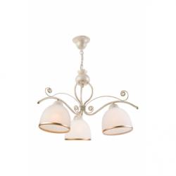 Lustra Retro II alb 3x60W E27, sticla - Iluminat corpuri de iluminat