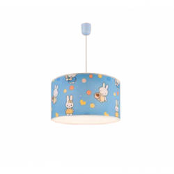 Lustra bleu iepurasi 1x60W E27, textil - Iluminat corpuri de iluminat