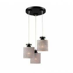Lustra Rosa negru/wenge 3x60W E27, textil - Iluminat corpuri de iluminat