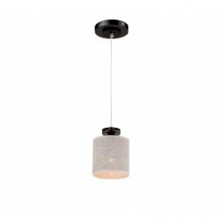 Lustra Rosa negru/wenge 1x60W E27, textil - Iluminat corpuri de iluminat