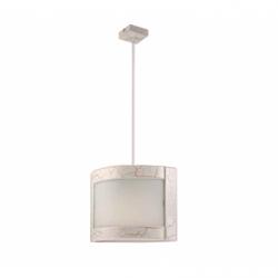 Lustra Halina alb antic 1x60W E27, sticla - Iluminat corpuri de iluminat