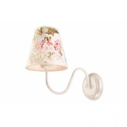 Aplica Aleksis alb 1x60W E27, textil - Iluminat corpuri de iluminat