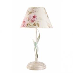 Veioza Aleksis alb 1x60W E27, textil - Iluminat corpuri de iluminat