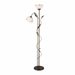 Lampadar Kalia nowa negru 2x60W E27, sticla - Iluminat corpuri de iluminat