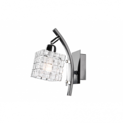 Aplica Alicja negru 1x60W E27, sticla - Iluminat corpuri de iluminat