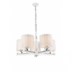 Lustra Azzura alb 5x60W E27, textil - Iluminat corpuri de iluminat