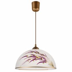Lustra pictata manual lavanda 1x60W E27, sticla (22786) - Iluminat corpuri de iluminat