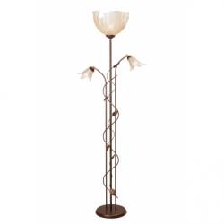 Lampadar Bluszcz maro 2x40W E14 + 1x60W E27, sticla - Iluminat corpuri de iluminat
