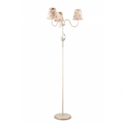 Lampadar Aleksis alb 3x60W, E27, textil - Iluminat corpuri de iluminat