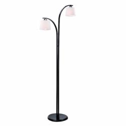Lampadar Julka/Julita negru 2x60W E27, sticla - Iluminat corpuri de iluminat