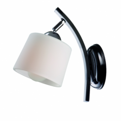 Aplica Julka/Julita negru 1x60W E27, sticla - Iluminat corpuri de iluminat