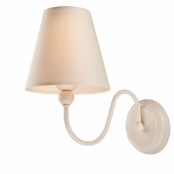 Aplica Bouli alb 1x60W E27, textil - Iluminat corpuri de iluminat