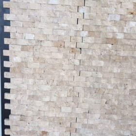 Mozaic - Travertin classic scapitat 3D - Mozaic si alte tipuri de piatra naturala - MARMUR_ART